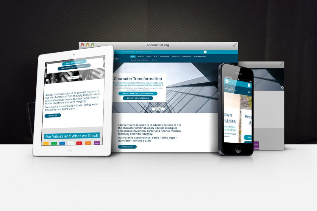 Responsive Website - adonaitrust.org